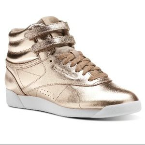 Reebok Metallic Leather High Top Sneakers